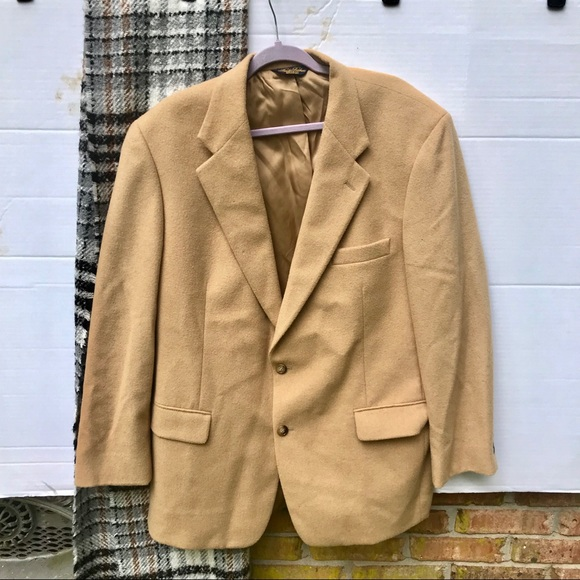 Brooks Brothers Other - 100% Camel Hair Tan Fitted Blazer 44R